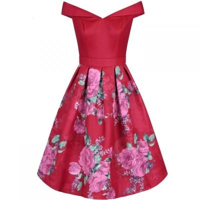 チチ Chi Chi レディース パーティードレス ワンピース・ドレス Floral Printed Midi Dress RED