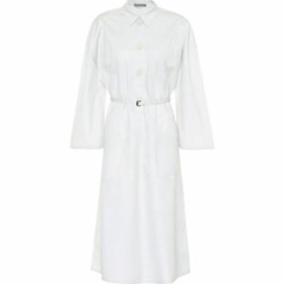 ボッテガ ヴェネタ Bottega Veneta レディース ワンピース シャツワンピース ワンピース・ドレス cotton-blend shirt dress Mist