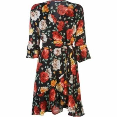 ゲス Guess レディース ワンピース ワンピース・ドレス Floral Dress Flower Pwer Blk