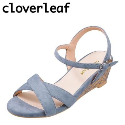 クローバーリーフ cloverleaf CL-1243 レディース | サンダル | ウェッジソール | 花柄 フラワー ソール | ブルー