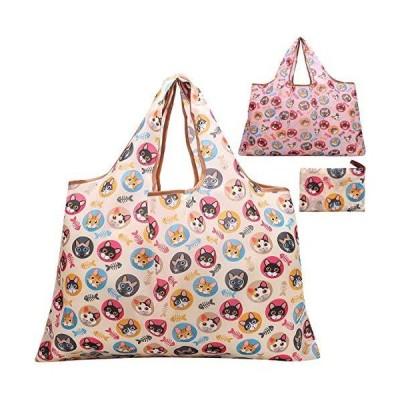 JISEN 再利用 食料品袋 2パック L サイズ ナイロン ウォッシャブル 折りたたみ式 エコ フレンドリー ヘビー デュ?