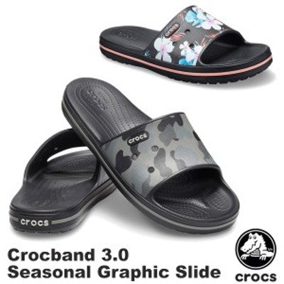 【送料無料】クロックス(CROCS) クロックバンド 3.0 シーズナル グラフィック スライド(crocband 3.0 seasonal graphic slide)[BB]【31】