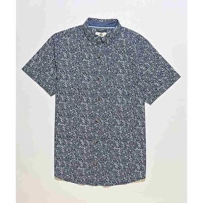 ドラバス DRAVUS メンズ 半袖シャツ トップス Dravus Landon Ritz Blue Woven Short Sleeve Button Up Shirt Blue