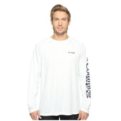 コロンビア メンズ シャツ トップス Terminal Tackle L/S Shirt White/Nightshade Logo