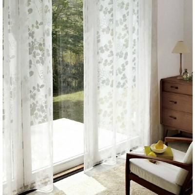 サンゲツ シアーカーテン SC3720 巾100×丈101〜120cm(2枚入) SS縫製仕様 約2倍 3つ山ヒダ ウエイトウーリーロック仕上げ