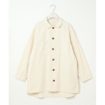 (LBC/エルビーシー)ロングシャツジャケット/レディース オフホワイト