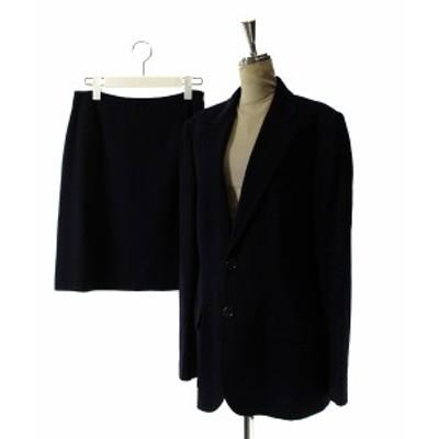 【中古】ラルフローレン RALPH LAUREN RALPH セットアップ 上下 スーツ ジャケット テーラード スカート 台形 ひざ丈 11 紺