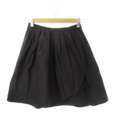 【中古】アプワイザーリッシェ Apuweiser-riche スカート フレア ミニ 1 黒 ブラック /MN12 ☆ レディース
