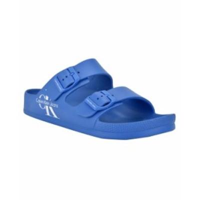 カルバンクライン メンズ サンダル シューズ Men's Zion Sandal Klein Blue