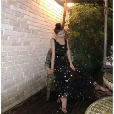 結婚式 ドレス パーティードレス お呼ばれ ワンピース 二次会 謝恩会 20代 30代 40代 マキシ丈 ノースリーブ Vネック