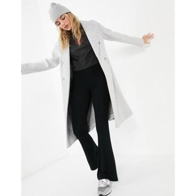 トップショップ レディース コート アウター Topshop coat in gray marl