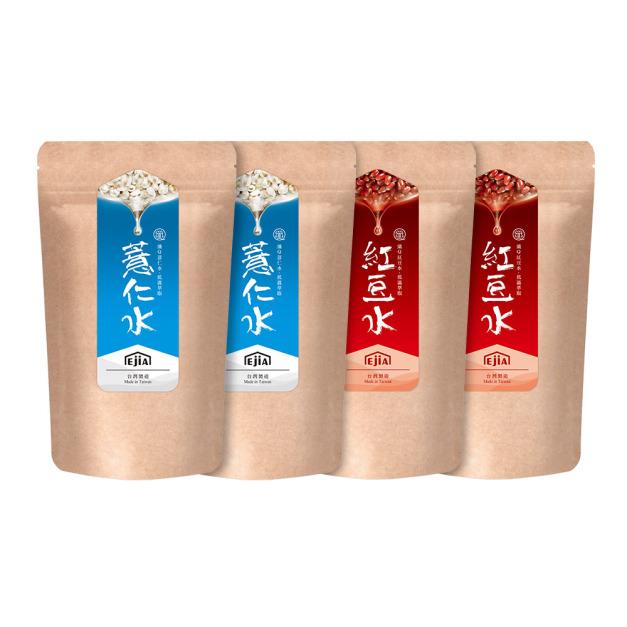 【雙料養顏組】纖Q薏仁水x2+紅豆水x2