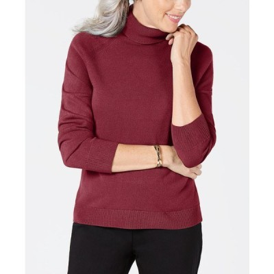 ケレンスコット ニット&セーター アウター レディース Luxsoft Turtleneck Sweater, Created for Macy's Ks Merlot