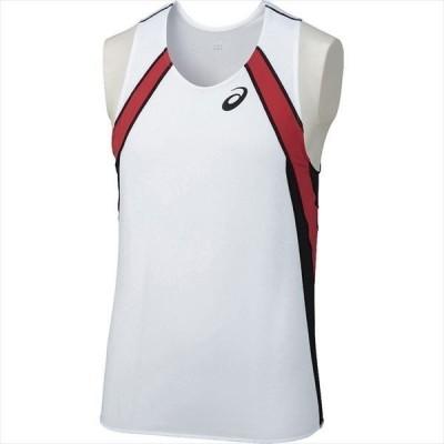 【P2倍+10%OFFクーポン】アシックス メンズ 陸上競技 ランニングウェア ランニングシャツ XT1040 0190