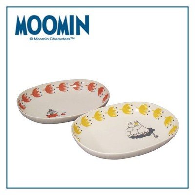 MOOMIN(ムーミン)kukka(お花)シリーズ ペアオーバルボウル