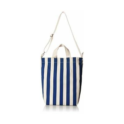 (バグゥ) DUCK BAG キャンバスバッグ ストライプブルーXホワイト
