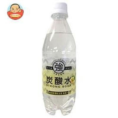 送料無料  友桝飲料  強炭酸水レモン  500mlペットボトル×24本入