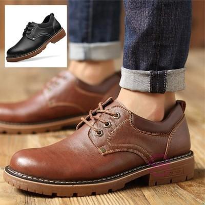 サドルシューズ メンズ ビジネスシューズ 革靴 レースアップ レザーシューズ 滑り止め 紳士靴 ワークシューズ 春服