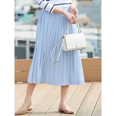 【大きいサイズ】ソフトプリーツデシン プリーツスカート 大きいサイズ スカート レディース