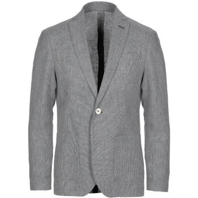 OFFICINA 36 テーラードジャケット ダークブルー 52 麻 50% / コットン 25% / ポリエステル 25% テーラードジャケット