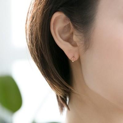フィービィー(phoebe)/【K10】リーフダイヤモンドピアス