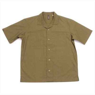 【Pitta Re:)】 オープンカラー 半袖 形態安定 綿100% カジュアルシャツ