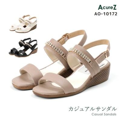 AcureZ(アキュアーズ) カジュアルサンダル レディース レディス 3E相当 S(22.0-22.5)-LL(24.5) AO-10172