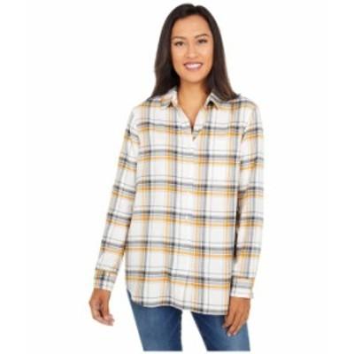 ペンドルトン レディース シャツ トップス Primary Flannel Shirt Ivory/Inca Gold