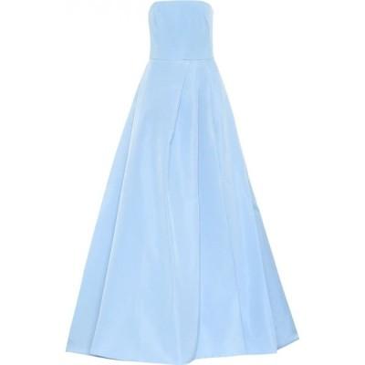 モニーク ルイリエ Monique Lhuillier レディース パーティードレス ワンピース・ドレス Silk gown Sky Blue