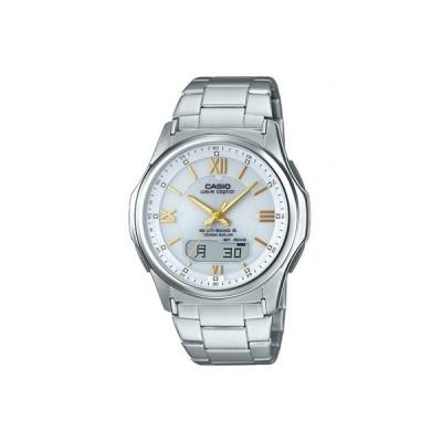 カシオ 電波時計 スポーツウォッチ 10気圧防水 デジタル アナログ ソーラー電波 腕時計(WV16AU02WHT)電波ソーラー LEDライト付き マラソン ランニング 時計