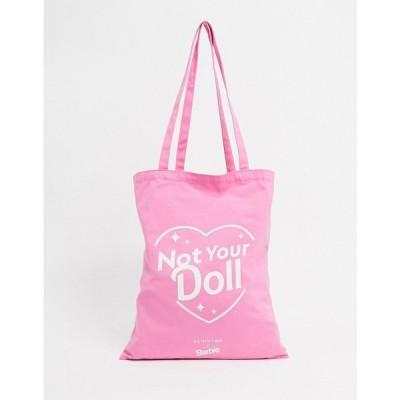 スキニーディップ Skinnydip レディース トートバッグ キャンバストート バッグ Barbie Not Your Doll Canvas Tote Bag In Pink