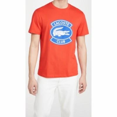 ラコステ Lacoste メンズ Tシャツ トップス Oversized Club Badge Cotton Tee Red