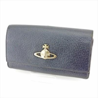 ヴィヴィアン ウエストウッド がま口 財布 長財布 オーブ ブラック Vivienne Westwood 中古 P790