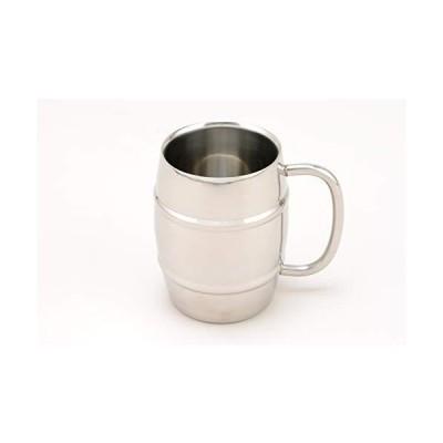 片力商事 樽型 二重マグカップ 400ml 白箱入