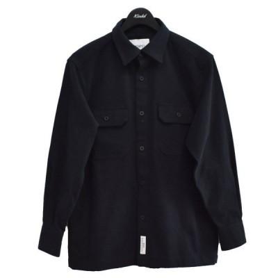 WTAPS 20AW UNION / LS / COTTON. FLANNEL ワークシャツ ネイビー サイズ:01 (アメリカ村店) 210104