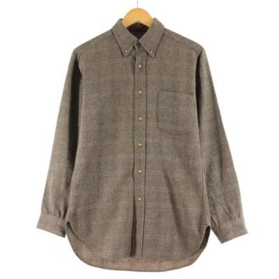 70年代 ペンドルトン PENDLETON ウールボタンダウンシャツ メンズS ヴィンテージ /eaa105263
