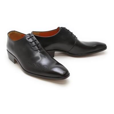 革靴 本革 ビジネスシューズ クインクラシコ QueenClassico メンズ ドレスシューズ 紳士靴 17002bk ブラック(黒) ホールカット日本製(国産)