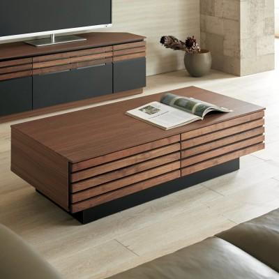 AlusStyle/アルススタイル リビングシリーズ リビングテーブル 幅110.5cm ダークブラウン
