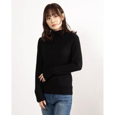 リネーム Rename リブハイネックニットセーター (ブラック)