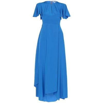 ダイアンフォンファステンバーグ DIANE VON FURSTENBERG ロングワンピース&ドレス ブルー 0 シルク 100% ロングワンピース