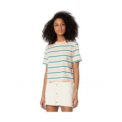 Roxy ロキシー レディース 女性用 ファッション Tシャツ Yarn-Dye Short Sleeve Tee - Reef Coral Good Vibes Yarn-Dye