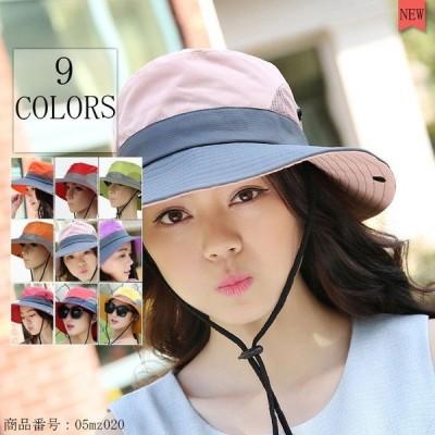 【送料無料】日焼け帽子 レデイースサマーハット 日焼け防止 軽量 ツバ広ハット小顔 UV効果抜群 折りたたみ 女優帽 UVカット 日焼け