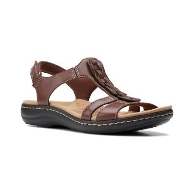 クラークス サンダル シューズ レディース Laurieann Kay T-strap Slingback Sandals Tan Leather