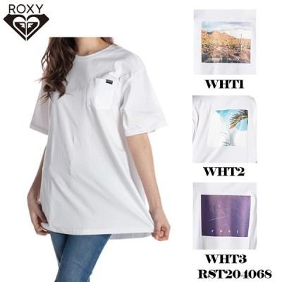 ロキシー Tシャツ レディース 半袖 クルーネック トップス フォトグラフィック バックプリント 白 かわいい おしゃれ 人気 ブランド ROXY RST204068