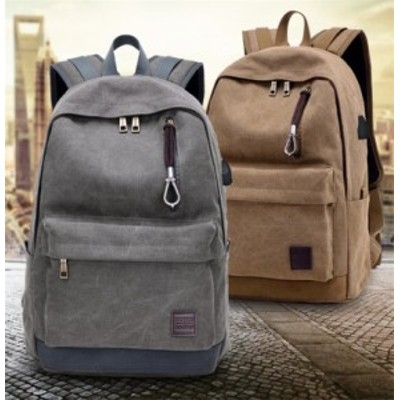男女兼用 旅行バッグ 軽量 ノートPC リュック バックパック ビジネス USBポート搭載 大容量 通学 通勤 mnk401