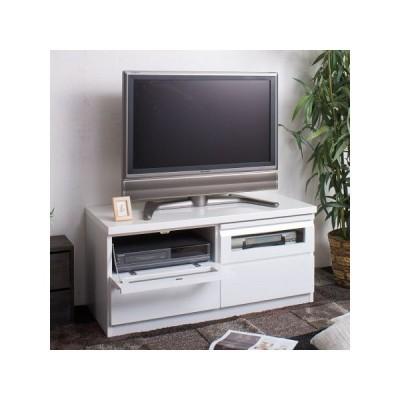TVボード 艶ありホワイト 幅100cm ( AV収納 テレビラック ローボード AVラック )