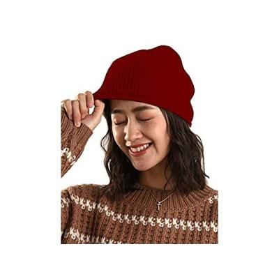 Ellettee 100% Pure Cashmere Slouchy Beanie Womens Knit Caps (Brioche Knit R