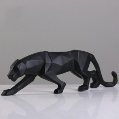豹 ヒョウ パンサー 置物 オブジェ モダン 北欧 ブラック 約48cm