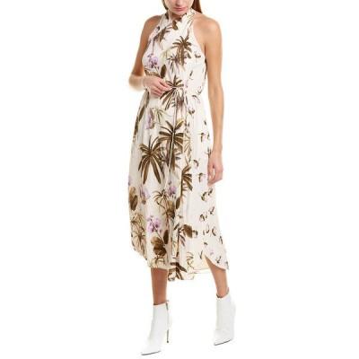 ヴィンス ワンピース トップス レディース Vince Tropical Garden Midi Dress pale alder