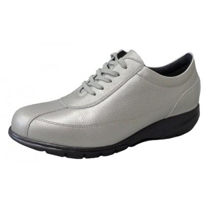 FookaL フッカル 3Eソフト牛革超軽量 レディースシューズ シルバー(婦人靴)